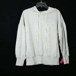 Gray Pullover Hoodie Sweater
